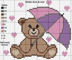 This Pin was discovered by Luc Baby Cross Stitch Patterns, Cross Stitch Baby, Cross Stitch Animals, Crochet Stitches Patterns, Cross Stitch Charts, Crochet Motif, Pixel Crochet, Small Cross Stitch, Cross Stitch Pictures