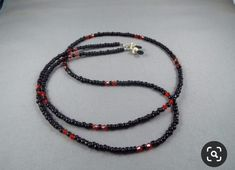 Items similar to Red and black beaded eyeglasses holder chain ,you choose length , stylish lanyard Necklace for holding any eyeglasses or sunglasses new cute on Etsy Lanyard Necklace, Beaded Necklace, Beaded Bracelets, Beaded Lanyards, Eyeglass Holder, Glasses Online, Eyeglasses, Jewelry Making, Chain
