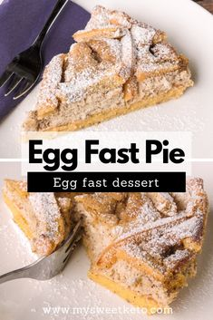 Egg Fast Pie - My Sweet Keto Eggs are simply awesome. This egg fast dessert (Egg fast pie) consists almost solely of eggs, cream cheese, and butter. Eggfast Recipes, Low Carb Recipes, Cooking Recipes, Snack Recipes, No Egg Desserts, Low Carb Desserts, Dessert Recipes, Healthy Desserts, Breakfast