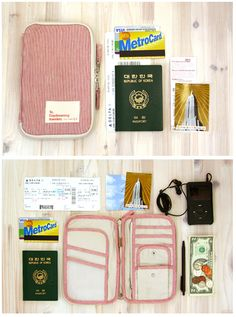 canvas travel pouch for papers, change, ticket stubs, etc. #P2Ppacking
