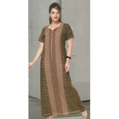 Check out our New Product  Aura Pure Cotton Printed Brown Night Wear COD Aura Pure Cotton Printed Brown and mixed colour Geomentrical Design Night Wear NWPN2151SIZE :XL  ₹999