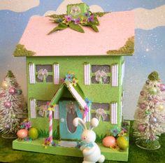 Easter glitter house