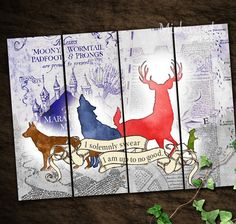 This listing is for a set of 4 printable Harry Potter themed bookmarks, featuring the Marauders in their Animagus form. Buy once and print as