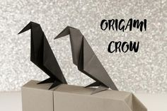 Learn how to make a simple traditional origami crow. This origami bird could also be a raven or black bird. What's nice is how this bird stands up.