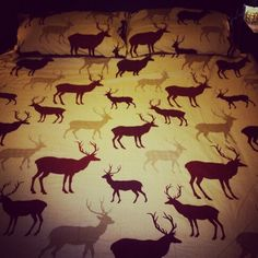 Stag bedspread ready for Imbolc