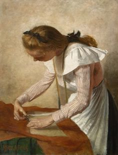 'Marius' Johannes Richters (Rotterdam 1878-1955) Portret van Catharina, zuster van de schilder - Kunsthandel Simonis en Buunk, Ede (Nederland).