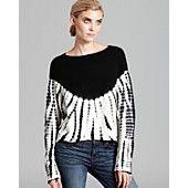 Aqua Cashmere Sweater - Tie Dye Drop Shoulder