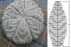 Knit beret - Knit and Crochet - Awesome knitted and crocheted items and patterns. Knitted Mittens Pattern, Knitting Paterns, Baby Hats Knitting, Crochet Stitches Patterns, Lace Knitting, Knitting Stitches, Knitted Hats, Knit Crochet, Crochet Hats