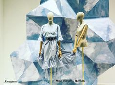 """LA RINASCENTE, Milan, Italy, """"Blue Skies are Coming"""", for MAJE, pinned by Ton van der Veer"""