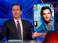 Matthew McConaughey Was Robbed of Another Sexiest Man Alive Title (Or So Says Stephen Colbert!)