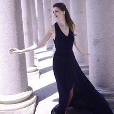 Preciosa espontánea y encantadora @crisortizb con nuestro vestido Elisetta de la colección primavera-verano 2016  SHOP NOW | LINK EN BIO  I'm not looking for somebody with superhuman gifts some superhero some farytale bliss... just something I can turn to somebody I can kiss. I want something just like this  Dress by @remixance  #night #dress #elegance #style #fashion #chic #instagood #smile #happy #instafashion #goodnight #happiness #cute