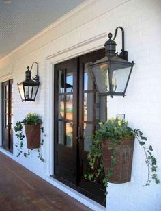Do you need inspiration to make some DIY Farmhouse Front Porch Decorating Ideas in your Home? When you are trying to create your own unique Farmhouse Front Porch design, you will want to use ideas from those that are… Continue Reading → Exterior Light Fixtures, Outdoor Light Fixtures, Exterior Lighting, Farmhouse Front Porches, Modern Farmhouse Exterior, Rustic Farmhouse, Farmhouse Ideas, Farmhouse Style, Farmhouse Design