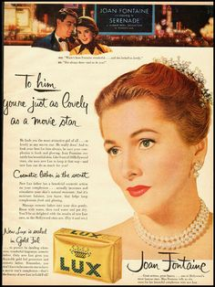 1956 Joan Fontaine in LUX soap