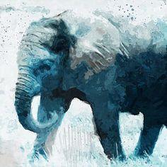 Elephant- Art By Linda Woods Print by Linda Woods