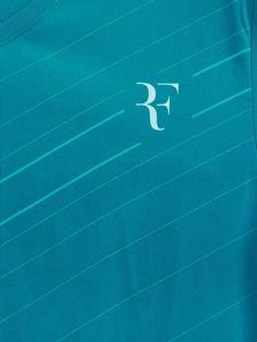Nike Men Blue Diagonal Stripe Print RF Tennis T-shirt   Myntra