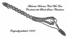 Civil War Era Chatelaine Beaded Crochet Pattern 1868
