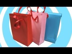 DIY: Paper Gift Bag with/without Handles Instructions - YouTube