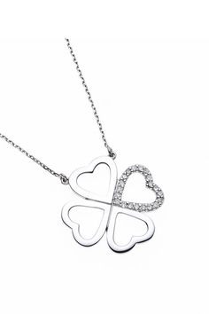 Trefoil Diamond Necklace (0.10 Cts) from Pretty Solo Jewellery on Brandsfever