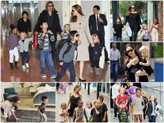 Brad Pitt und Angelina Jolie mit den Kindern unterwegs