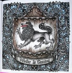 Game Of Thrones Coloring Book Winterfell Sigil Winter Is Coming Gameofthronescoloringbook Adultcoloringbook
