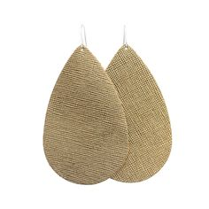 I want these brass leather earrings from Nickle & Suede !