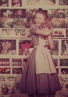 Kathryn Beaumont, the voice and model of Alice in Disney's Alice In Wonderland. Also, a cat.