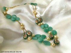 Designer Jewellery, Bead Jewellery, Gems Jewelry, Designer Wear, Beaded Jewelry, Jewelery, Jewelry Design, Chocker Necklace, Emerald Necklace