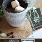Retro Woodsy Hot Chocolate Bar & Printable Coffee Sleeve