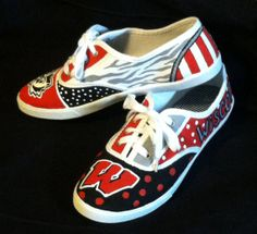 my etsy shop - Team Spirit Sneakers, custom painted to order any team!