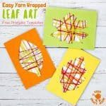This Yarn Wrapped Leaf Craft is so pretty! A fabulous way to capture the colours of the season and build fine motor skills. An easy to make leaf craft with 6 free printable templates to choose from. A simple and fun Fall craft for kids of all ages. Leaf Crafts Kids, Easy Yarn Crafts, Yarn Crafts For Kids, Projects For Kids, Crafts To Sell, Arts And Crafts, Art Projects, Leaf Template, Autumn Crafts