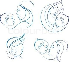 mother holding baby illustration - Google Search