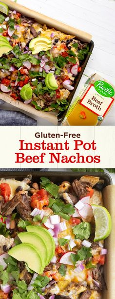 Instant Pot Shredded Beef Nachos: snack food with a nutrient-packed twist! Find the recipe here. Beef Nachos, Shredded Beef, Healthy Low Carb Recipes, Dinner Recipes, Dinner Ideas, Kitchen Recipes, Instant Pot, Simple Snacks, Favorite Recipes