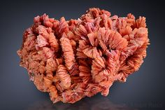 realgar red colored baryte from romania