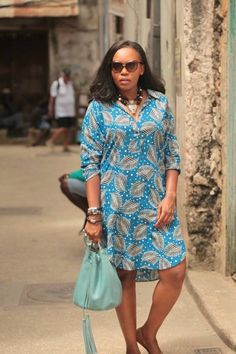 Diana Opoti wearing a delicious printed dress- Culture and Fashion going hand in hand African Print Dresses, African Print Fashion, African Fashion Dresses, African Dress, African Attire, African Wear, Ankara Dress Designs, Nigerian Outfits, Ankara Clothing