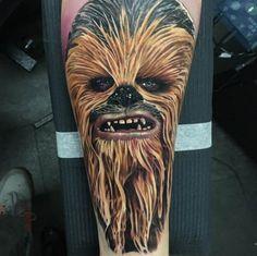 Chewbacca Tattoo by Alex Rattray #ink #Inked #inkedmag #star #wars #tattoo #chewbacca #chewie #classic