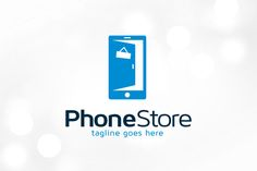 Phone Store Logo Template by gunaonedesign on Creative Market
