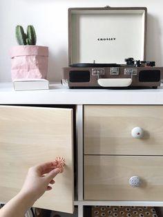 We've had this white KALLAX shelving unit from IKEA for a while now… Ikea Kallax Shelving, Ikea Kallax Hack, Interior Doors For Sale, Interior Barn Doors, Ikea Cubes, Wood Exterior Door, Cube Shelves, Diy Door, Houses