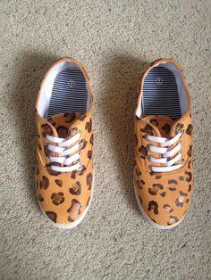 Cheetah shoes DIY ♥