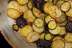 Baby Potato & Zucchini Casserole ... #glutenfree #vegetarian and can be #vegan if you omit the parmiggiano cheese