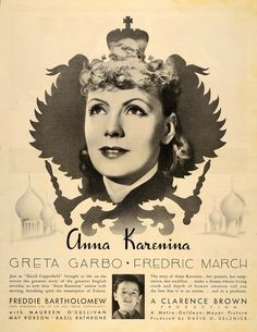 1935 Ad Clarence Brown MGM Face Anna Karenina Greta Garbo Fredric March DL2