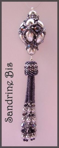 Inspiration on how seed bead dangles might be executed