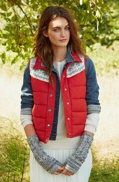 Rubbish® Vest, BP. Jacket & Lily White Skirt #BPNordstrom #FallTrend