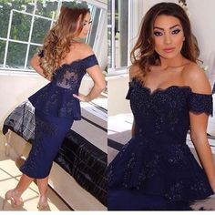 Royal Blue Sexy Tea Length Cocktail Dresses 2015 Sheath Off Shoulder Plus Size Beads Vintage Lace Sweet 16 Formal Dresses Evening Wear Gowns Short Cocktail Dresses Short Party Gowns Crystal Cocktail Dresses Online with $180.58/Piece on In_marry's Store | DHgate.com