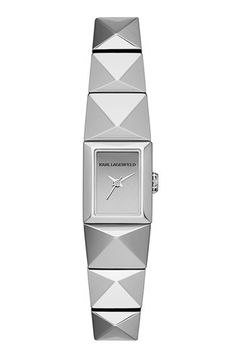Modern, geometric flair is effortless, thanks to this angular watch from Karl… David Jones, Watch Necklace, Bracelet Watch, Karl Lagerfeld Watches, Baubles And Beads, Casual Watches, Mini, Jewelry Watches, Women's Watches