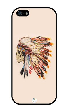 iZERCASE Native American Skull Rubber iphone SE / iPhone 5S case - Fits iphone SE, iPhone 5S T-Mobile, Verizon, AT&T, Sprint and International. COLOR OPTIONS: Our cases come in black and white options as shown in pictures above. PLEASE, SPECIFY WHAT COLOR WOULD YOU PREFER BY EMAILING US THROUGH THE AMAZON IMMEDIATELY AFTER YOU HAVE MADE YOUR PURCHASE. If no message received from buyer within 3 hours of purchase, we will gladly send color indicated on first picture. Designs will be printed...