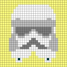 Star Wars Crochet/Square Grid Charts - can use for filet crochet or cross stitch…