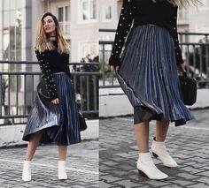 b59ce176a Get this look: http://lb.nu/look/8597301 More. Zara BootsMetallic SkirtSkirt  ...