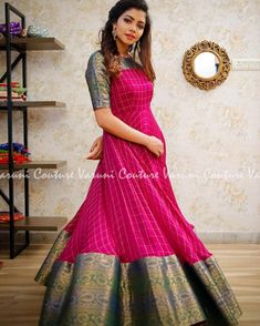 Beautiful ethnic wear designed by . Designer Lehengas, Designer blouses, Kurtis and Kids wear Inspiration… Beautiful ethnic wear designed by . Designer Lehengas, Designer blouses, Kurtis and Kids wear Inspiration… Lehenga Designs, Salwar Designs, Long Gown Dress, Lehnga Dress, Frock Dress, Saree Gown, Long Frock, Long Gowns, Kalamkari Dresses
