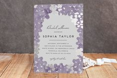 """Garden Spring Blossom"" - Floral & Botanical Foil-pressed Bridal Shower Invitations in Strawberry Sorbet by Petra Kern."