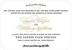 Elegant Vintage Foil Landscape Wedding Invitation